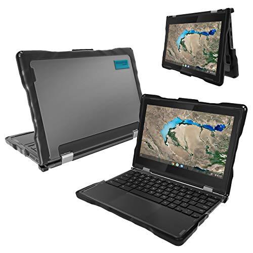 Gumdrop DropTech Case Designed for Lenovo 300e Chromebook MediaTek (2nd Gen MTK & AMD) for K-12 Students, Kids - Black, Rugged, Shock Absorbing, Extreme Drop Protection