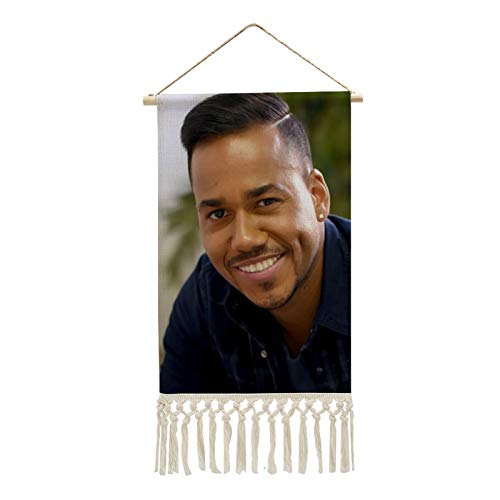 IIOOPP Romeo Santos Portable Poster Hanging Painting Wall Art Cotton Linen Office Home Decor