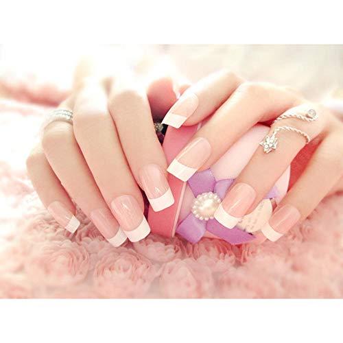 24 sztuk dużo baleriny fałszywe paznokcie dla kobiet ślubna panna młoda fałszywe paznokcie długie pełne tipsy sztuczne paznokcie akcesoria artystyczne