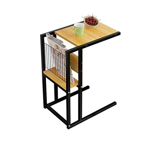 JPVGIA Scaffale di stoccaggio della Tabella del Computer Portatile del tavolino da Salotto del tavolino da Salotto del sofà del Salone (Color : Wood Color)