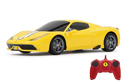 Jamara- Ferrari 458 Speciale A Giocattolo Telecomandato, Scala 1:24, 2.4 GHz, Colore Giallo, 405032