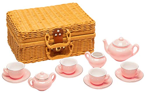 MMP Living Children's Porcelain Play Tea Set - Pink