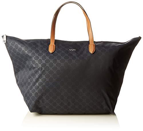 Joop! Handtasche Piccolina Helena aus Nylon Damen Schultertasche mit Reißverschluss, Blau (Nightblue), 24x33.5x58 cm (B x H x T)