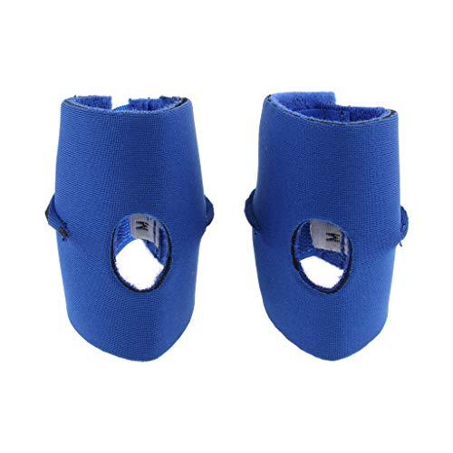 FLAMEER 2X Hund Bandage für Hinterbein, blau, 2er Pack - M