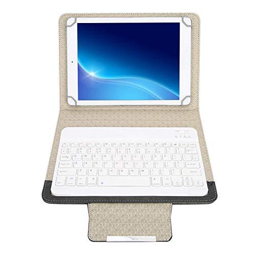 Teclado Inalámbrico Bluetooth y 9.7/10.1 Pulgadas Funda Protectora de PU para Computadora Portátil, Impermeable Durable Funda con Teclado Bluetooth con Soporte, para Android/iOS/Win