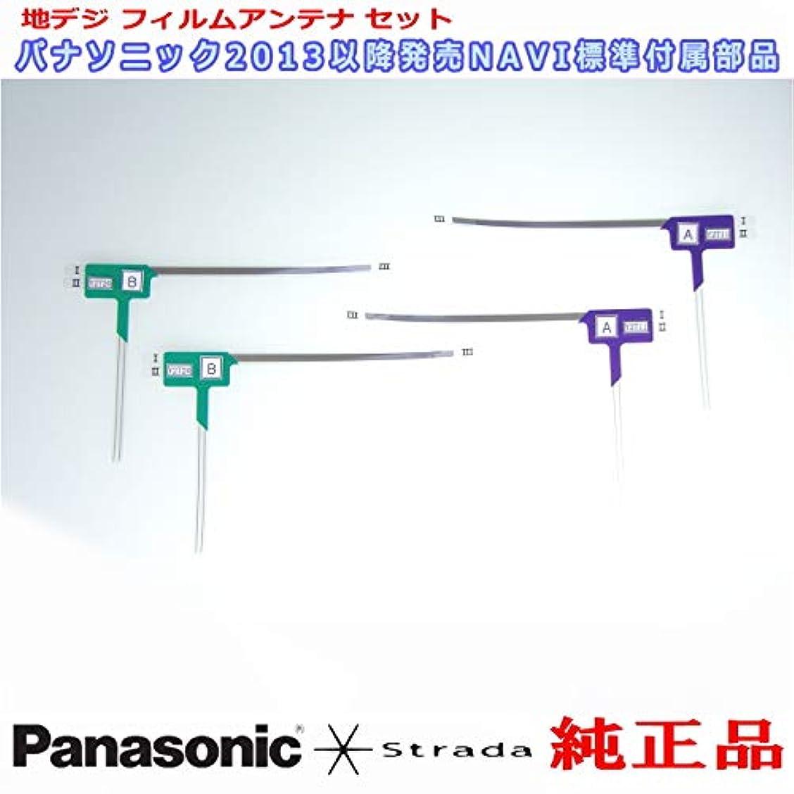野菜マイル不適地デジアンテナ Panasonic Strada CN-F1XVD 安心の 純正品 地デジ フィルム アンテナ & 3M 超強力 両面テープ Set (PD32T