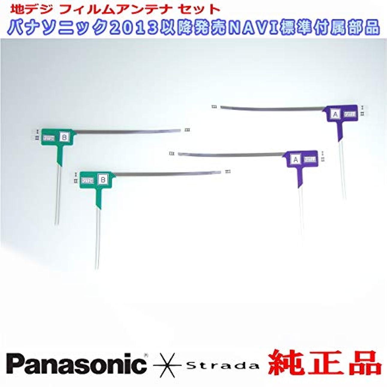 ソーセージ言い換えるとジャンク地デジアンテナ Panasonic Strada CN-F1DVD 安心の 純正品 地デジ フィルム アンテナ & 3M 超強力 両面テープ Set (PD32T