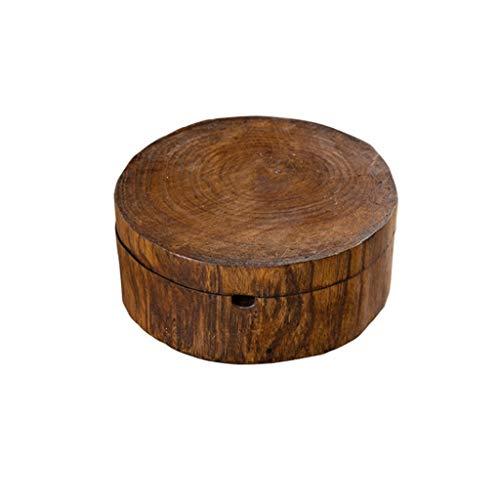 WPBOY Cenicero de madera para fumar cigarrillos de hierba del sudeste asiático estilo cenicero hecho a mano, mesa vintage, muebles decorativos de moda cenicero (tamaño grande: