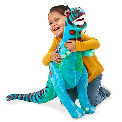 Melissa & Doug T-Rex Giant Stuffed Animal (Wildlife, Bold Colors, Soft Polyester Fabric, Stands on Two Feet, 26