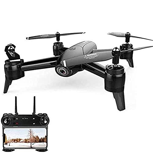 Drone GPS 4K HD Camera 2.4Ghz FPV WiFi RC Quadcopter App Control con Transmisor, Retención De Altitud Y Despegue/Aterrizaje con Un Botón, Bueno para Principiantes, Negro