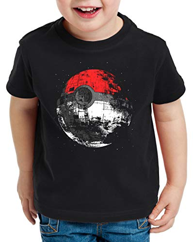style3 Poke Death Camiseta para Niños T-Shirt Estrella de la Muerte Ball Star, Talla:140