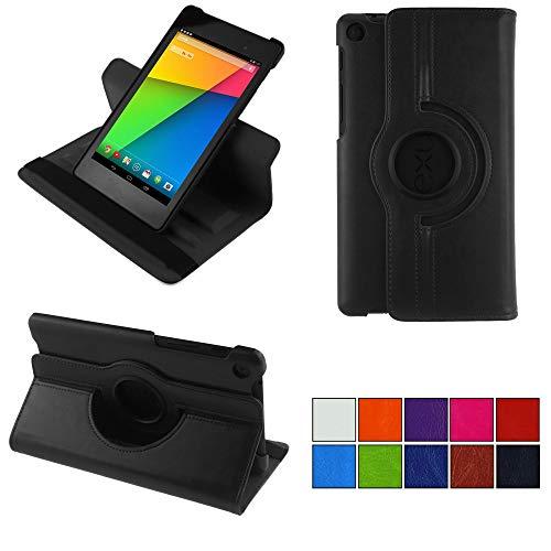 COOVY® 2.0 Cover für Google ASUS Google Nexus 7 (2. Generation Model 2013) Rotation 360° Smart Hülle Tasche Etui Hülle Schutz Ständer Auto Sleep/Wake up   schwarz