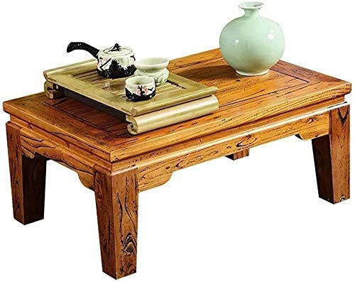 SHUMEISHOUT End Tables Coffee Table Coffee Tables Solid Wood Tatami Coffee Low Table Japanese-style Living Room Small Coffee Table Coffee Tables Rugged,Brown,60 * 40 * 30cm