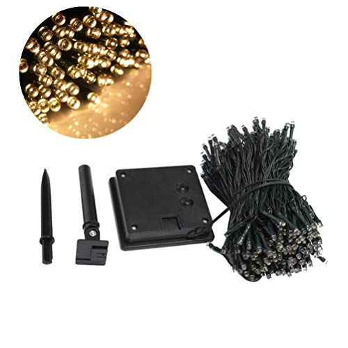52m 500 LEDs Solar String Lights Waterproof Fairy Outdoor Lights with Solar Panel for Christmas Wedding Birthday Home Patio Garden