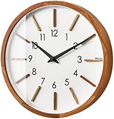 インターフォルム 置き時計・掛け時計 ナチュラル 直径30×奥行4.5 Motreff モトレフ CL-3020