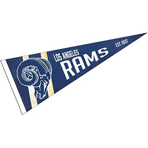 WinCraft Los Angeles Rams Throwback Vintage Retro Pennant Flag