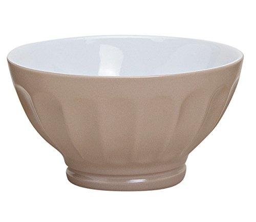GW GmbH Schale Landhaus Müslischale Müslischüssel Dessertschalen Schüssel Bowl grau weiß braun (Braun)