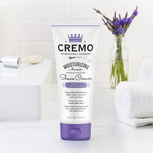 Cremo French Lavender Moisturizing Shave Cream, Lavender Bliss, 6 Fl Oz