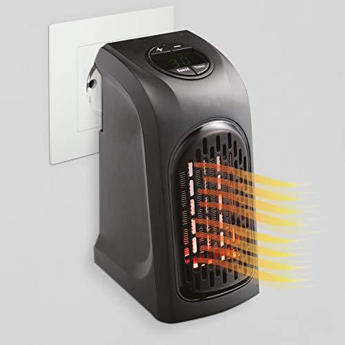 MediaShop Livington Handy Heater – Kompakte Steckdosenheizung mit 2 Stufen – energiesparendes Heizgerät für schnelle Wärme – Mini Heizung mit 12h Timer und Abschaltautomatik