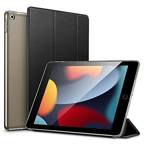 ESR leichte Trifold Hülle kompatibel mit iPad 9./8./7. Gen (2021, 2020, 2019) mit Ständer & automatischem Ruhe/Wachmodus, Schwarz