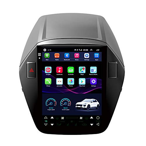 Kilcvt Auto GPS Navigation Stereo, 9 in Multimedia/Android 10 Autoradio-Player, Für Hyundai Ix35 10-15 Vertikale...