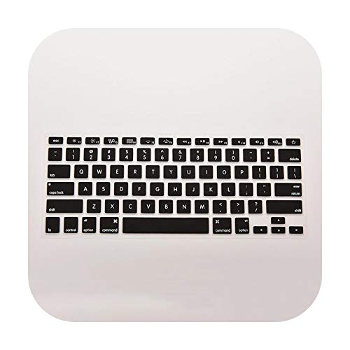 1pc Silicone Keyboard Skin Cover Case for MacBook Air Pro 13' 15' 17' Inch Laptop Keyboard Protective Film Computer Accessories-Black