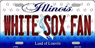White Sox Fan Illinois Background Novelty Metal License Plate (with Sticky Notes)