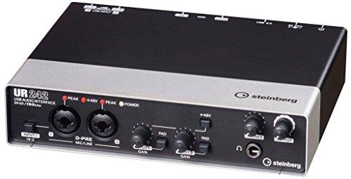 スタインバーグ Steinberg 4x2 USB2.0 オーディオインターフェース UR242 インターネット配信に便利な機能搭載 ヘッドホン端子付き 音楽制作アプリケーション付き