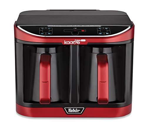 Fakir Kaave Dual-Pro 9215003 / Mokkamaschine Kaffeekocher Kaffeebereiter elektrisch, Kunststoff, One Touch Steuerung, 2,3l Wassertank , rot - 735 Watt