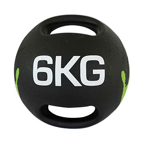 Balón Medicinal Bola De Fitness De La Manija Doble, Masculina Y Femenina Fuerza De La Fuerza Aerobic Ball De Goma, 3 Kg / 4kg / 5kg / 6kg / 7kg / 8kg / 9kg / 10kg (Size : 6kg/13.2lbs)