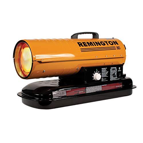 REMINGTON REM-80T-KFA-O Kerosene Heater, 80,000 BTU, Orange/Black