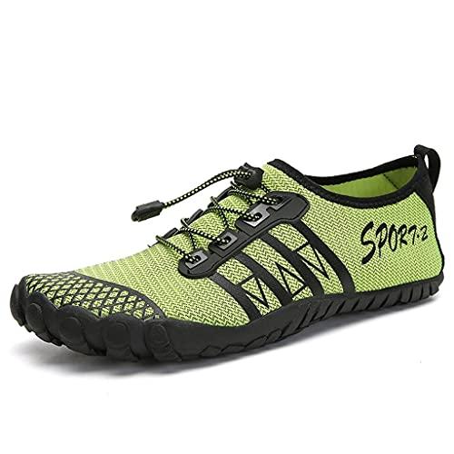 YQQMC Calcetines de agua suaves y de secado rápido para hombre, zapatos de agua transpirables (color: verde, tamaño: 44EU)