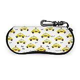 Mei-shop Amarillo Taxi Gafas de sol Estuche blando para mujeres Hombres Estuche grande con gancho para lentes con cremallera