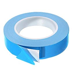 Thermal Tape, 25m x 20mm x 0.2mm Double Side Thermal Adhesive Tapes Cooling Pad Apply to Heatsink, LED, IGBT, IC Chip, Computer CPU,GPU, Modules, MOS Tube, SSD Drives