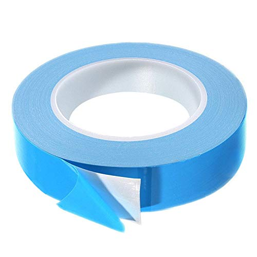Thermal Adhesive Tape, 25m x 10mm x 0.20mm Double Side Thermal Tapes Cooling Heatsink Pad Apply to LED, IGBT IC Chip Computer CPU GPU Modules MOS Tube SSD Drives