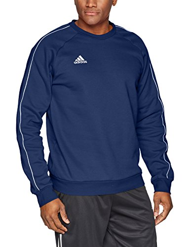 adidas Men's Core 18 Soccer Sweatshirt, Dark Blue/White, X-Large