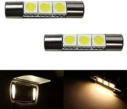 iJDMTOY 3-SMD 29mm 6614F LED Bulbs For Car Sun Visor Vanity Mirror Lights, Warm White