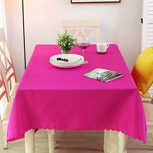DJUX Mantel de Color sólido Mantel de Conferencia Rectangular Mantel Restaurante Occidental Blanco Europeo Simple 220x320cm