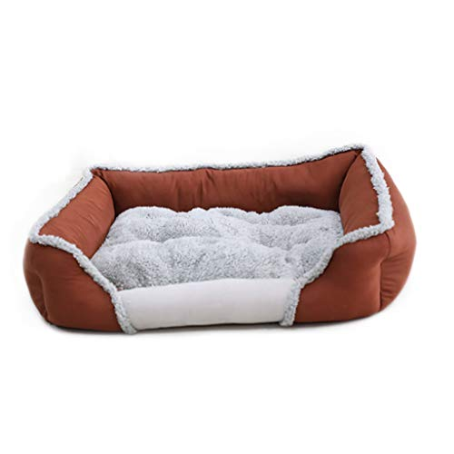 Liuyu · Levenshuishouden met vierkante Nido-naden voor huisdieren Four Seasons universeel bruin afneembaar en wasbaar dubbelzijdig met babybed van fluweel voor honden van Medie Maat