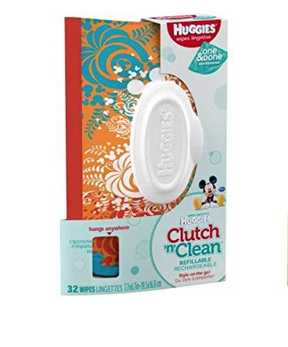 Huggies - Bolsa reutilizable para toallitas Baby Wipes Clutch, 40 toallitas húmedas, varios colores
