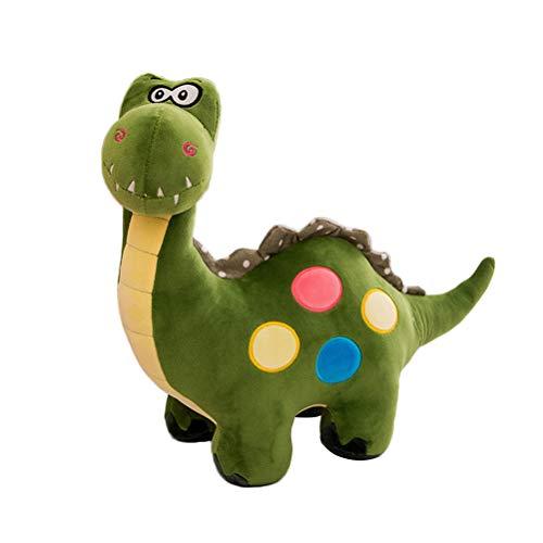 Plüsch Dinosaurier Spielzeug Kinder Stofftier Dinosaurier Bett-Zeit-Plüschtier-Spielwaren 35cm Geschenk (grün)