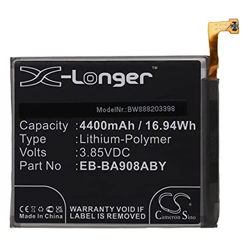 vhbw Batería Recargable reemplaza Samsung EB-BA908ABY, GH82-21089A para móvil, Smartphone (4400 mAh, 3,85 V, polímero de Litio)