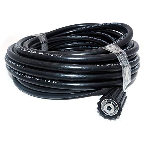 NUZAMAS - Manguera de Repuesto para Lavadora de Alta presión (15 m, M22, 14 y conexión Tipo Clic, 15 Metros de Largo)