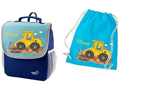 Mein Zwergenland Set 2 Kindergartenrucksack und Turnbeutel Happy Knirps Next mit Name...