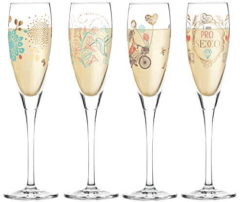 RITZENHOFF Pearls Edition Proseccoglas set van 4 incl. glazen poetsdoek Lena Kühnertová Shari Warren, Alice Wilson collectie voorjaar 2019