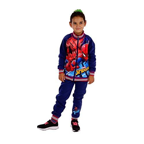 11326 Kinder Jogginganzug Freizeitanzug Marvel Spiderman 2-teilig Jacke u. Joggpants (98, dunkelblau)