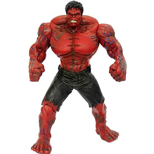 QYF Titan Super Hero Action-Figur Hulk (rot), 25 cm (9.8inchs), Joint Movable, Marvel Avengers Spielzeug, Jungen Kind Erwachsene Geburtstags-Geschenk-Sammlung