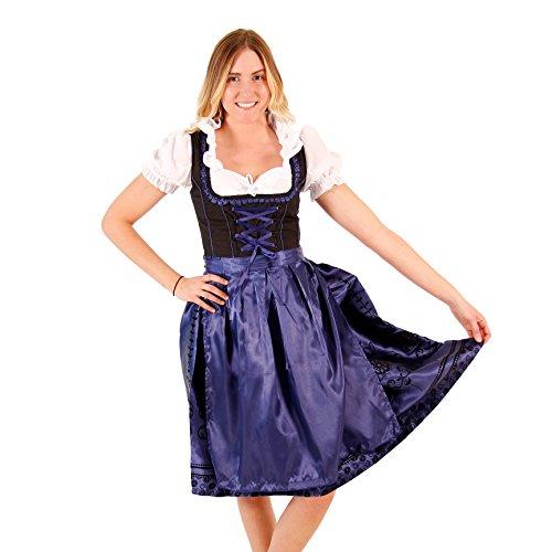 Oktoberfest Drindl Bavarian German Beer Girl BLUE Maid Costume Dress (22)