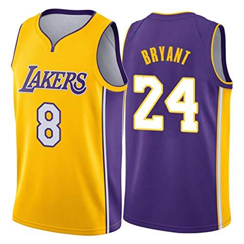 Kobe Bryant Black Mamba Jersey, Lakers Retro 8# 24# Baloncesto Camiseta Camiseta Swingman 2021 Unisex Camiseta Camiseta sin Mangas (XS-XXL) KOBE3-S