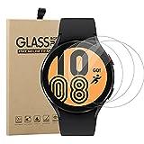 Young & Ming (3 Unidades) Cristal Templado para Samsung Galaxy Watch 4 44mm, 9H Dureza Alta Transparencia Ultra Resistente a Golpes Sin Burbujas
